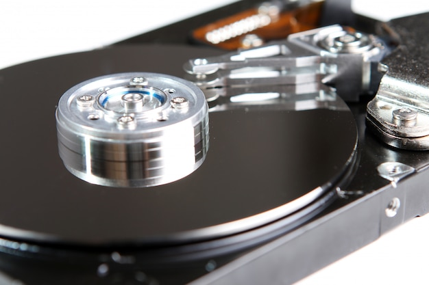 Hard drive disc close up Free Photo