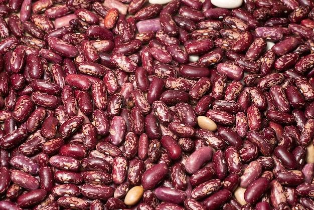 ハリコット豆のテクスチャ。画像は背景として使用できます。 Premium写真