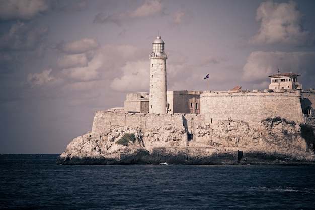 Havana. views of the fortress el moro and lighthouse Premium Photo