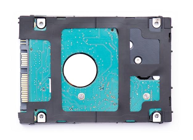 Hdd、ハードドライブ、または白で隔離されるハードディスク Premium写真