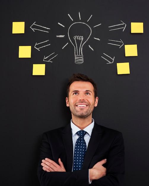 Head full of new and creative ideas Free Photo