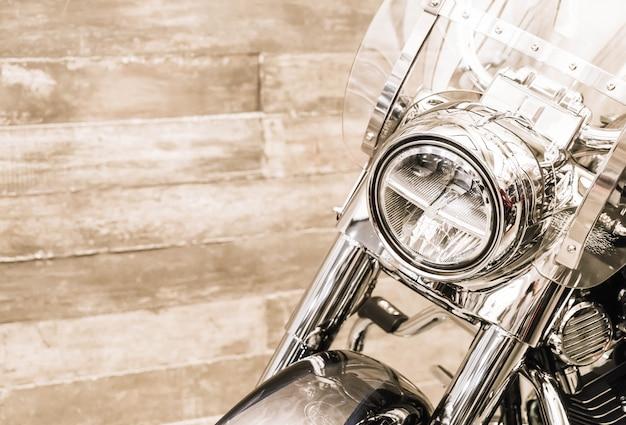 Head light of motorcycle Premium Photo