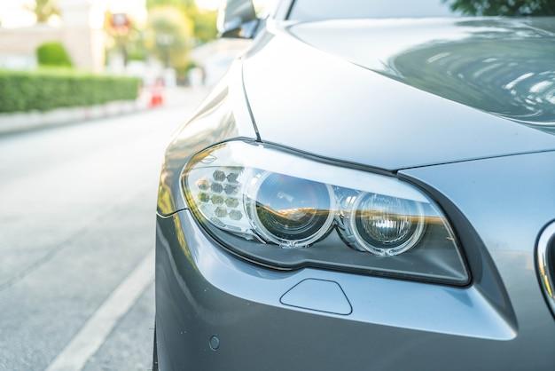 Head lights of a car Free Photo