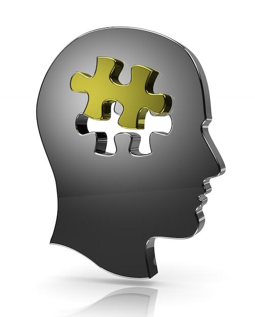 Head puzzle, one piece jigsaw Premium Photo