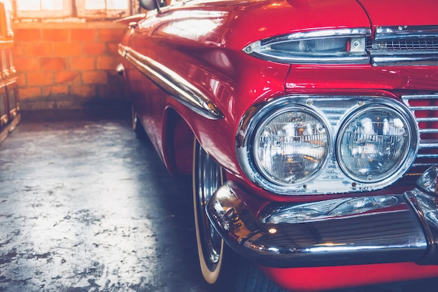 Headlight vintage car Premium Photo