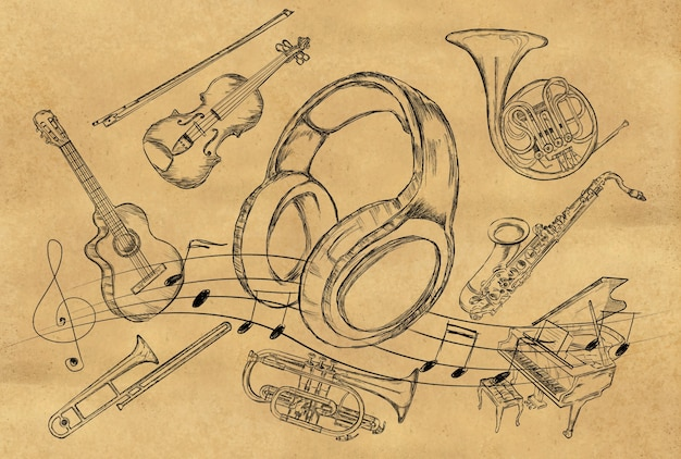 how to make musical instruments with paper