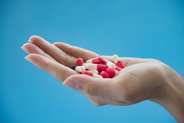 Healthy aspirin hold sleeping capsule healthcare Free Photo