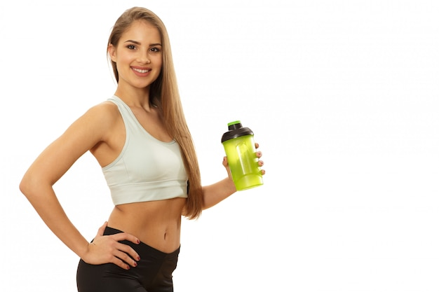 Healthy beautiful fitness woman ready to workout Premium Photo