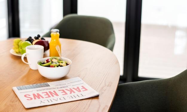 Healthy breakfast in meeting room Free Photo