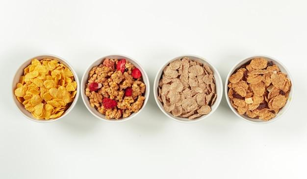 Healthy diet breakfast ingredients Premium Photo