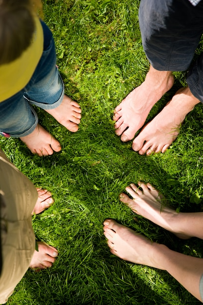 Healthy feet - standing together Premium Photo