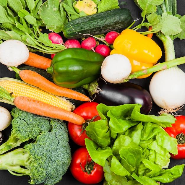 Healthy food composition Premium Photo