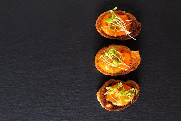 Healthy food concept vegan pumpkin hummus Premium Photo