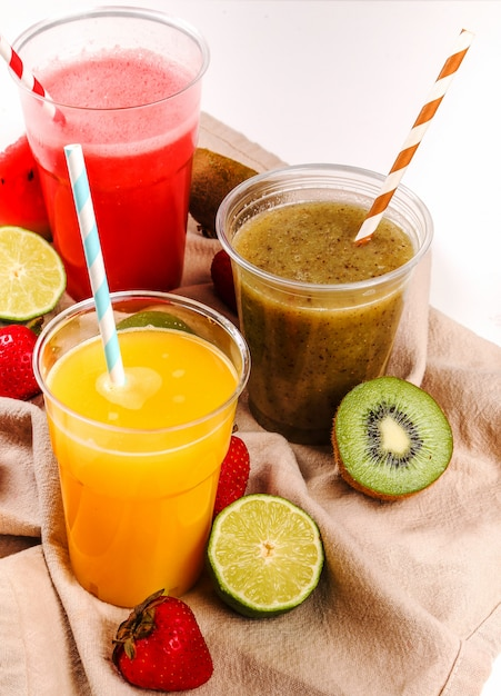 Healthy fruits smoothie Free Photo