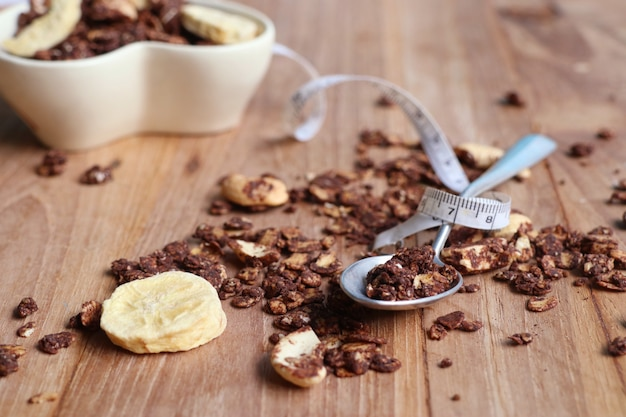 Healthy granola with cashew Premium Photo