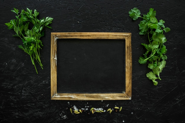 Healthy ingredients composition with frame Free Photo