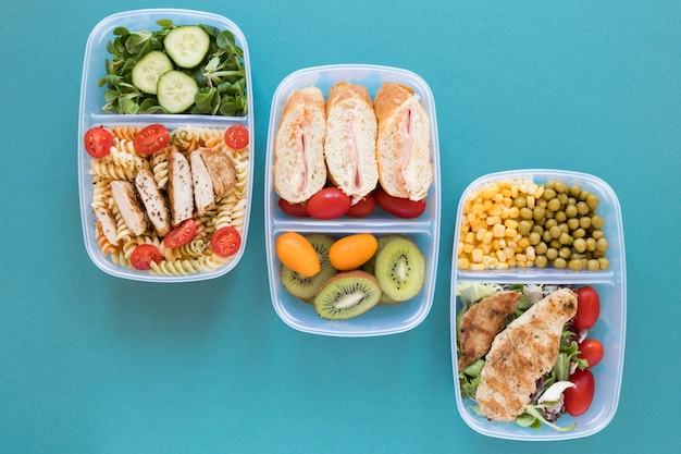 Healthy meal food assortment Free Photo