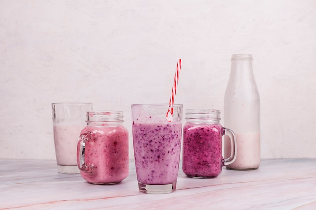 Healthy smoothie on table Free Photo