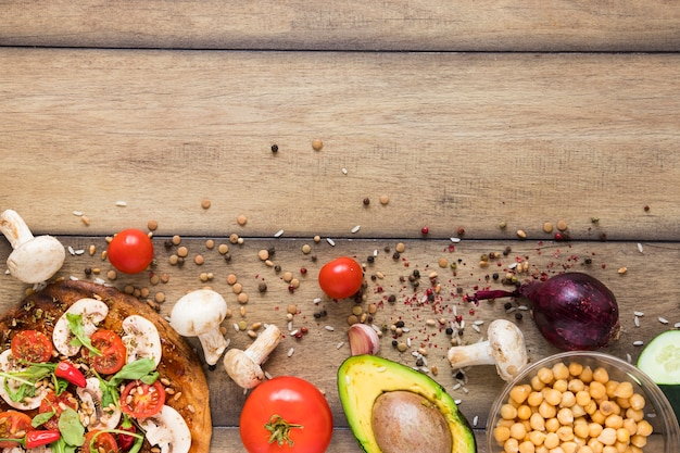 Healthy vegan food with copy space Free Photo
