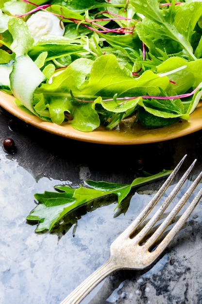 Healthy vegetable salad Premium Photo