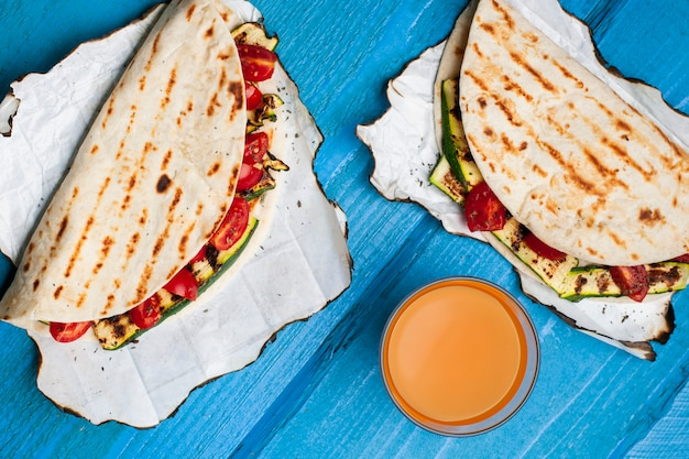 Healthy vegetables tortillas Free Photo