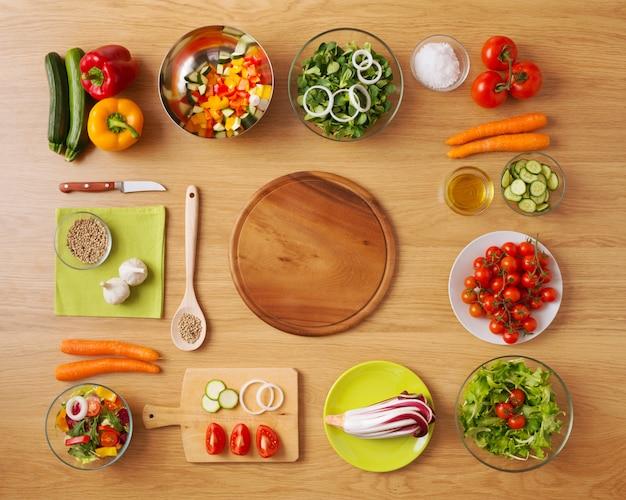 Healthy vegetarian home made food Premium Photo