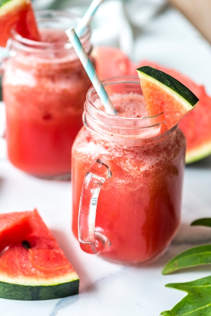 Healthy watermelon shake summer recipe Free Photo