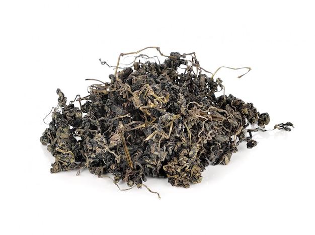 Куча сушеного зеленого чая Premium Фотографии