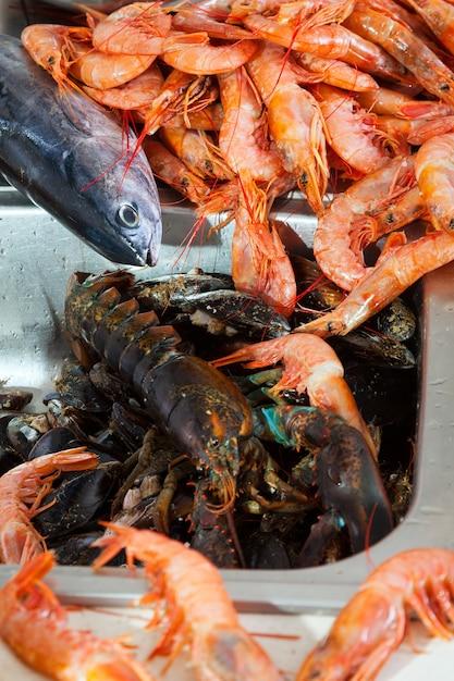 Куча сырых морепродуктов Бесплатные Фотографии