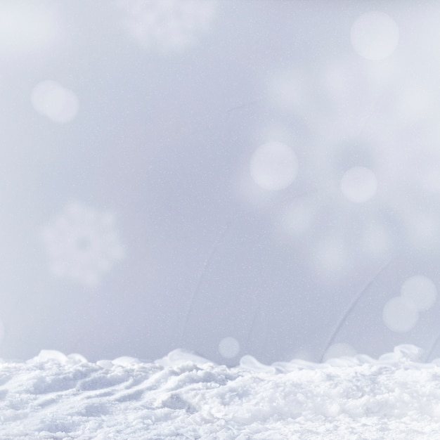 Heap of snow and snowflakes Free Photo