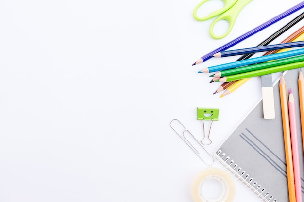 Heap of various stationery Free Photo
