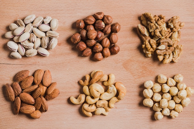 Heaps of various nuts Free Photo