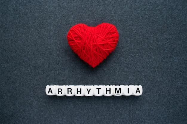 Heart arrhythmia, cardiac dysrhythmia or irregular heartbeat Premium Photo