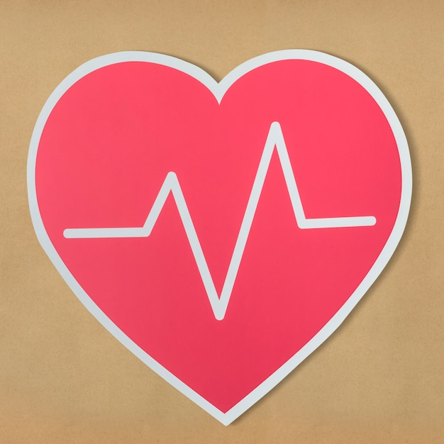 Heart disease medicine cut out icon Free Photo