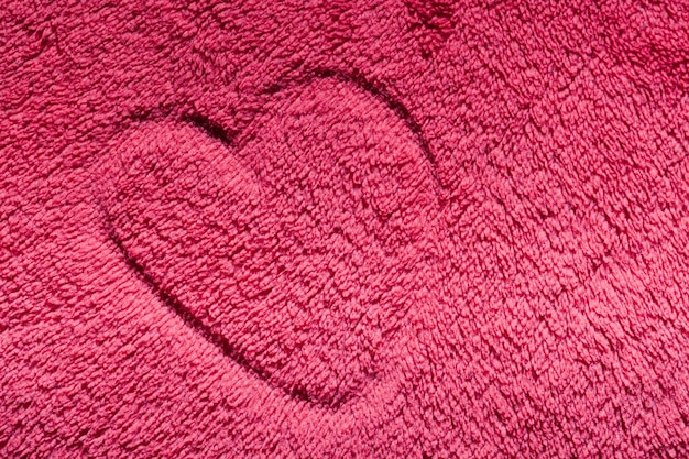 Heart drawn on a carpet Free Photo