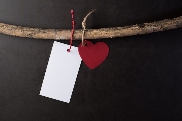 Heart hanging on the branches Free Photo