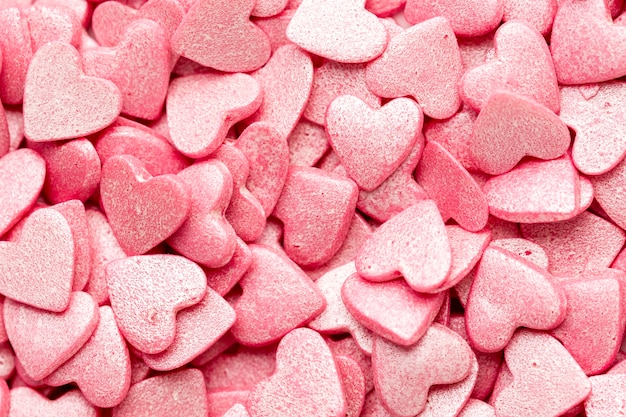 Heart-shaped valentines sweets Free Photo