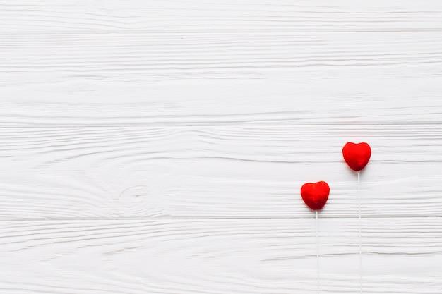 Heart sticks on white background Free Photo