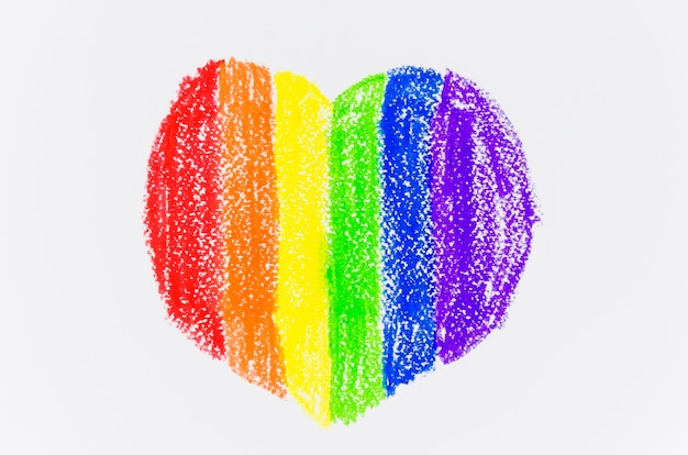 Heart with the colors of pride flag Free Photo
