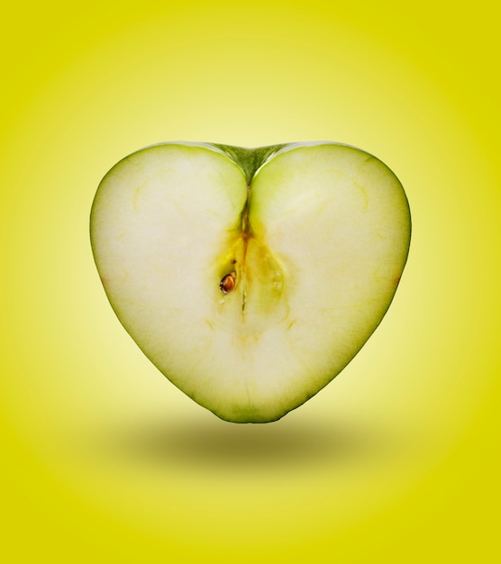 Hearth apple in green Premium Photo