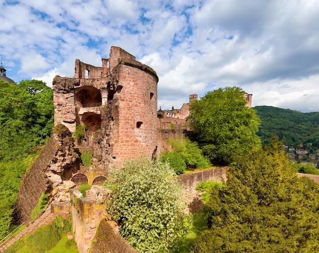 Heidelberg castle in spring, panorama Premium Photo
