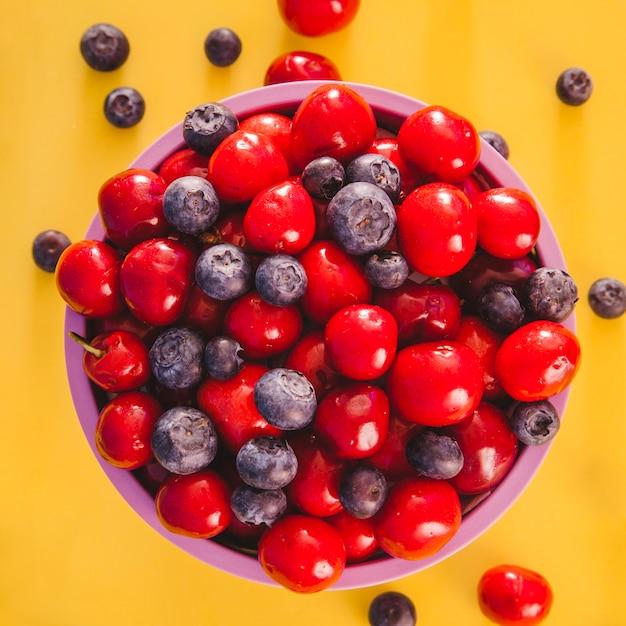 Helathy bowl of fruits Free Photo