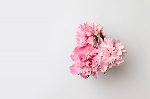 こんにちは春。花瓶の春の花 Premium写真