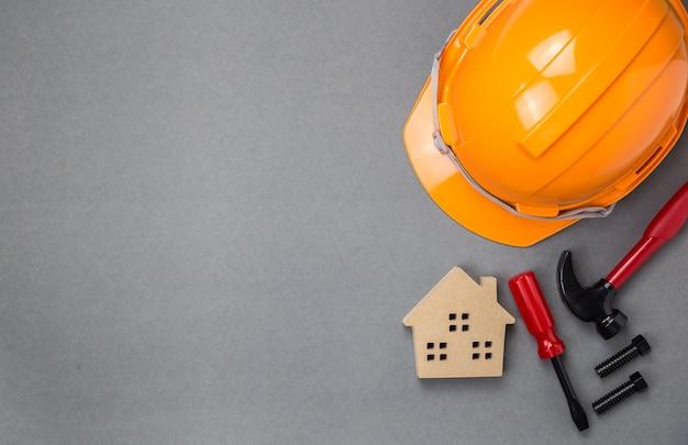 Helmet with safety,copy space. Premium Photo
