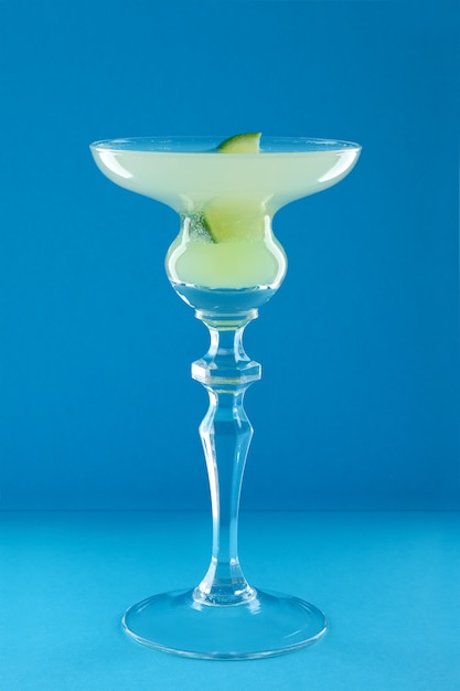 Hemingway daiquiri cocktail on blue background Premium Photo