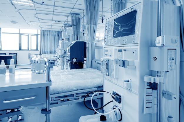 Hemodialysis machine in hospital ward Premium Photo