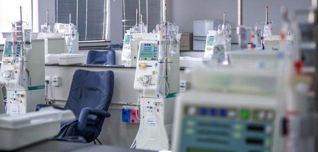 Hemodialysis room equipment Premium Photo