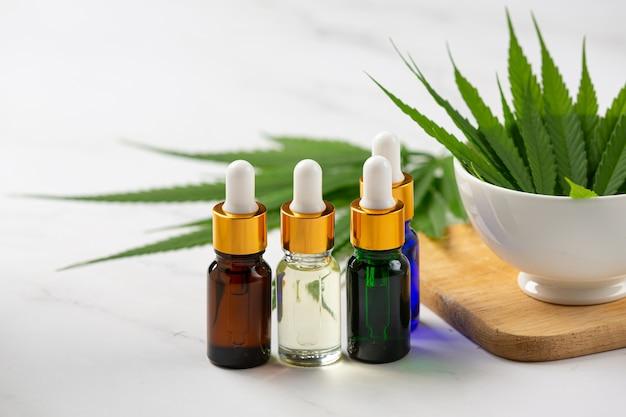 Hemp oil from hemp seeds and leaves medical marijuana. Free Photo