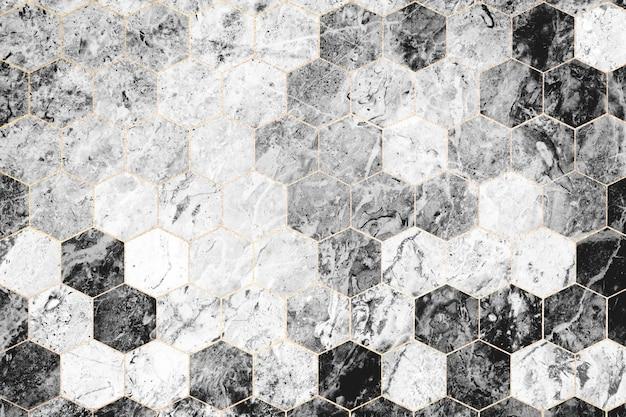 Шестиугольная серая мраморная плитка с рисунком Бесплатные Фотографии
