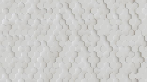 六角形の抽象的な3 d背景 Premium写真